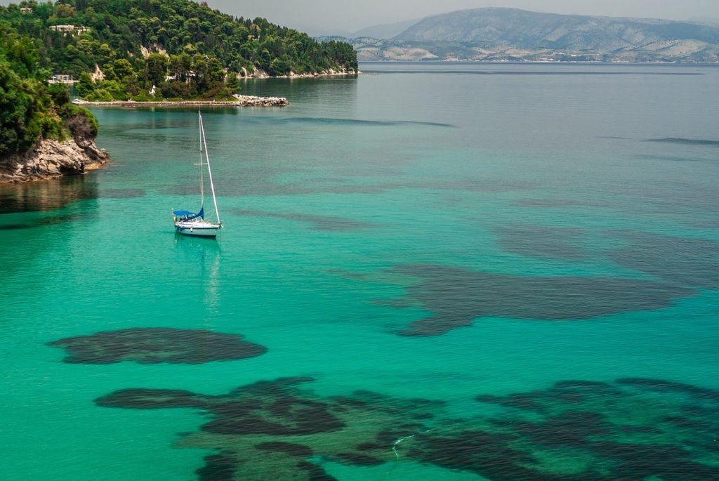 sea, corfu, greece