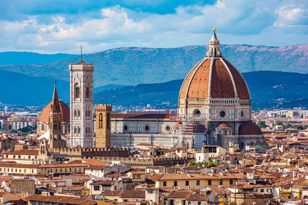 cathedral, dome, buildings, most beautiful cities in Italy